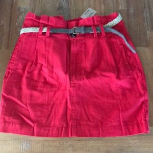 Dresses & Skirts - Red skirt with belt